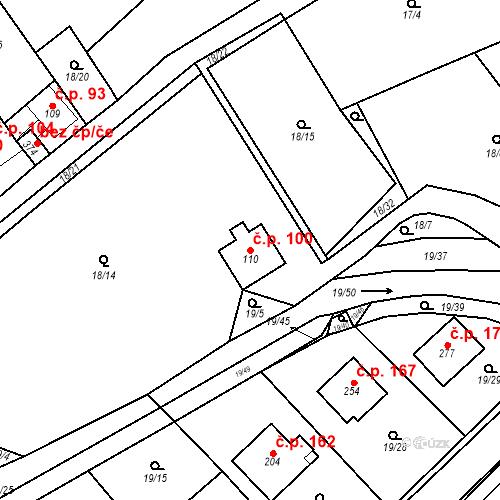 Katastrální mapa Stavební objekt Srbsko 100, Srbsko