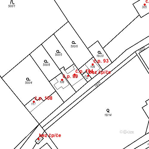 Katastrální mapa Stavební objekt Srbsko 104, Srbsko