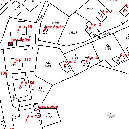 Katastrální mapa Stavební objekt Srbsko 2, Srbsko