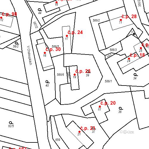 Katastrální mapa Stavební objekt Srbsko 23, Srbsko
