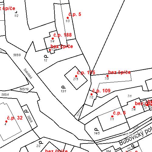 Katastrální mapa Stavební objekt Srbsko 175, Srbsko