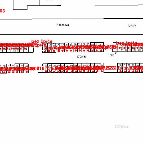 Katastrální mapa Stavební objekt Slaný 717, Slaný