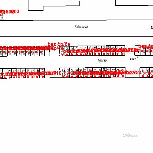 Katastrální mapa Stavební objekt Slaný 714, Slaný