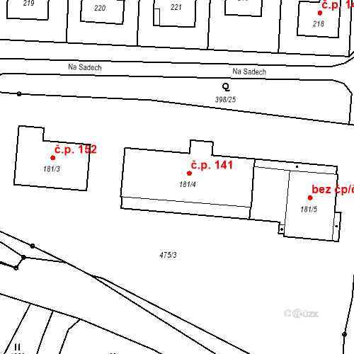 Katastrální mapa Stavební objekt Rožmitál na Šumavě 141, Rožmitál na Šumavě