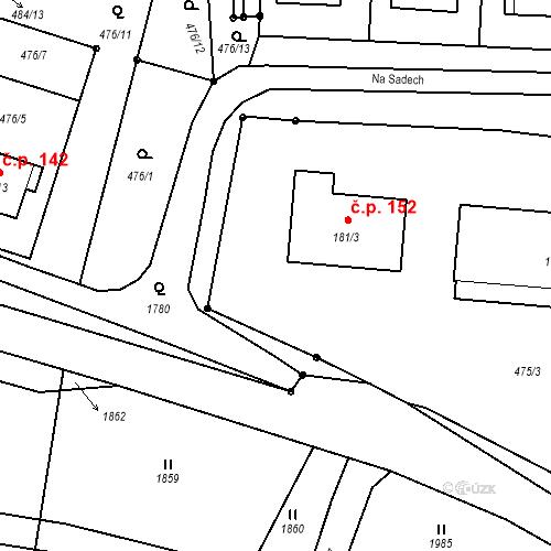 Katastrální mapa Stavební objekt Rožmitál na Šumavě 152, Rožmitál na Šumavě