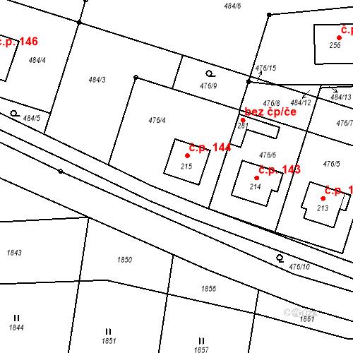 Katastrální mapa Stavební objekt Rožmitál na Šumavě 144, Rožmitál na Šumavě