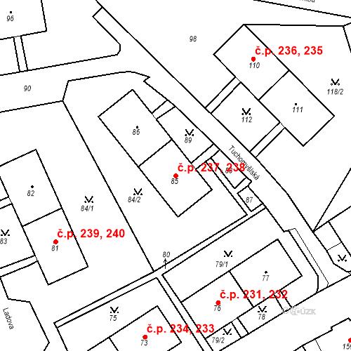 Katastrální mapa Stavební objekt Chlumec 237, 238, Chlumec