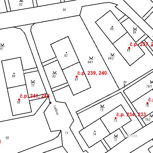 Katastrální mapa Stavební objekt Chlumec 239, 240, Chlumec