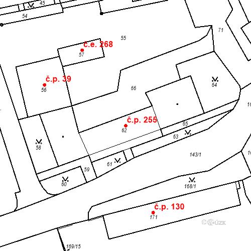 Katastrální mapa Stavební objekt Chlumec 255, Chlumec