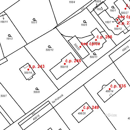 Katastrální mapa Stavební objekt Svinařov 245, Svinařov