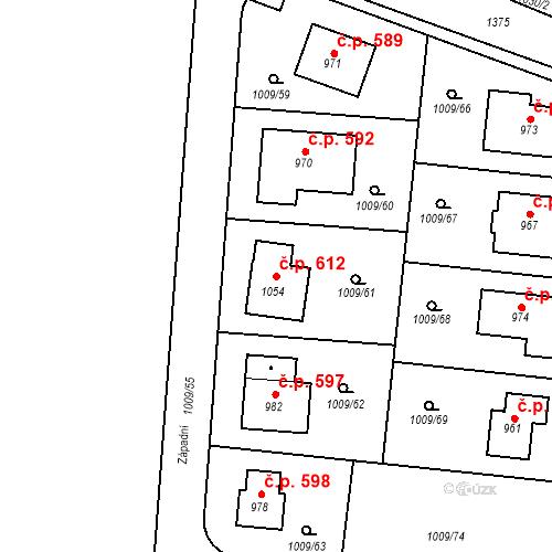 Katastrální mapa Stavební objekt Velká Dobrá 612, Velká Dobrá