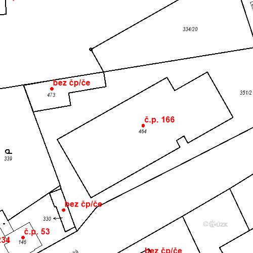 Katastrální mapa Stavební objekt Domoradice 166, Český Krumlov