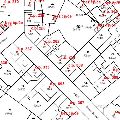 Katastrální mapa Stavební objekt Beroun-Závodí 254, Beroun