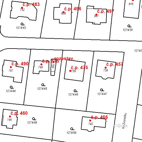 Katastrální mapa Stavební objekt Doksy 475, Doksy