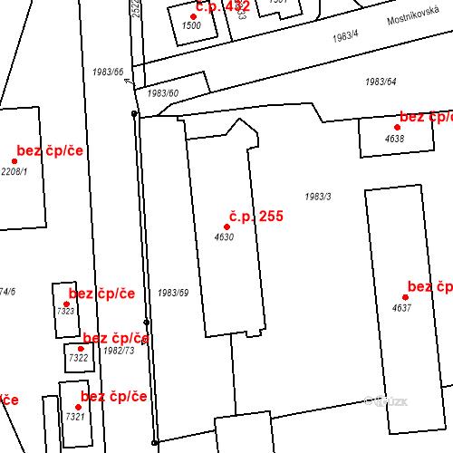 Katastrální mapa Stavební objekt Beroun-Závodí 255, Beroun