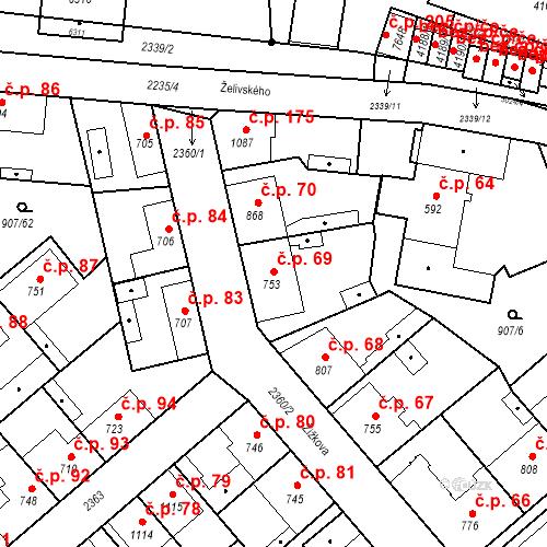 Katastrální mapa Stavební objekt Beroun-Zavadilka 69, Beroun