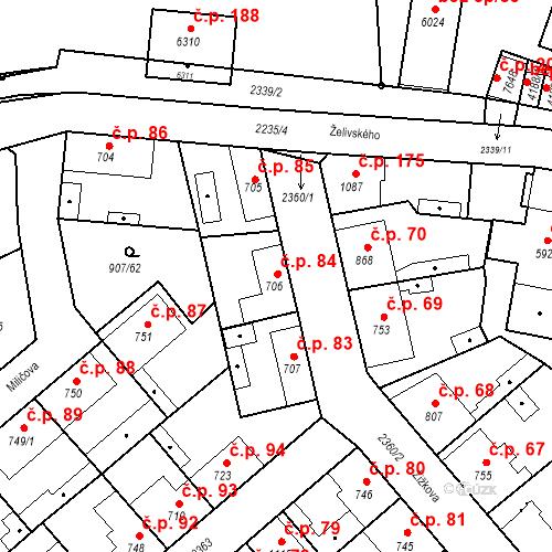 Katastrální mapa Stavební objekt Beroun-Zavadilka 84, Beroun