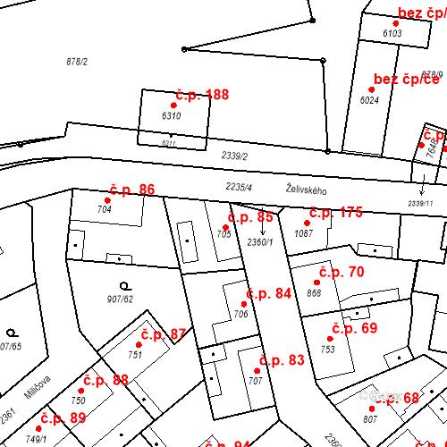 Katastrální mapa Stavební objekt Beroun-Zavadilka 85, Beroun