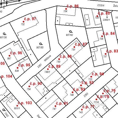 Katastrální mapa Stavební objekt Beroun-Zavadilka 88, Beroun