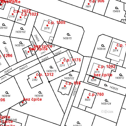 Katastrální mapa Stavební objekt Beroun-Město 1175, Beroun