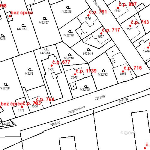 Katastrální mapa Stavební objekt Beroun-Město 1139, Beroun