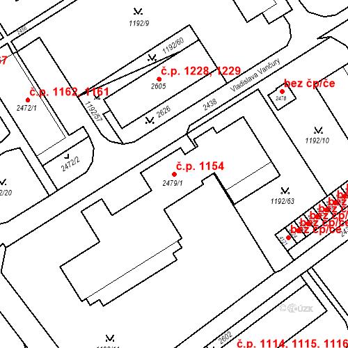 Katastrální mapa Stavební objekt Beroun-Město 1154, Beroun