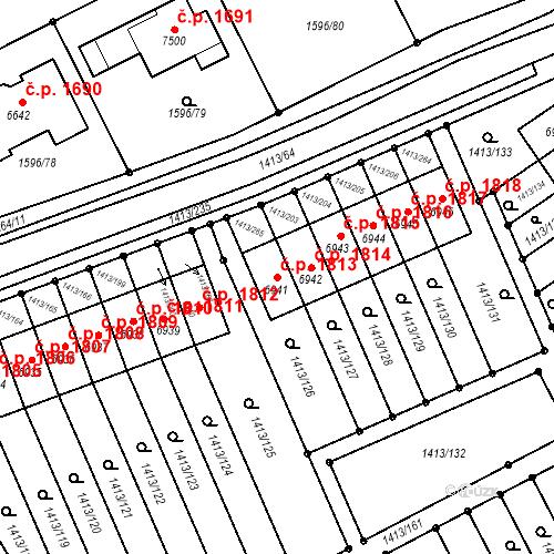 Katastrální mapa Stavební objekt Beroun-Město 1813, Beroun