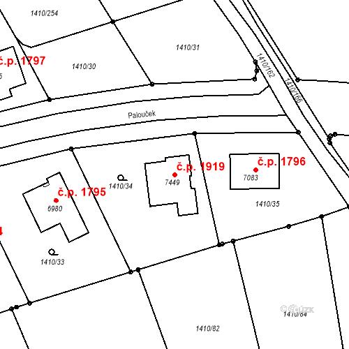 Katastrální mapa Stavební objekt Beroun-Město 1919, Beroun