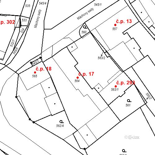 Katastrální mapa Stavební objekt Bystřany 17, Bystřany