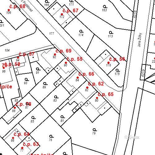 Katastrální mapa Stavební objekt Světice 66, Bystřany