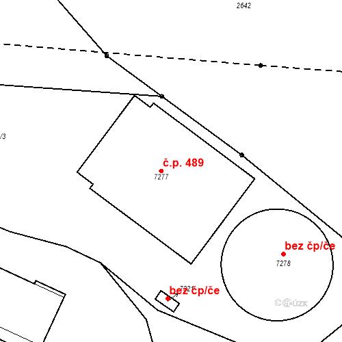 Katastrální mapa Stavební objekt Pražské Předměstí 489, Písek