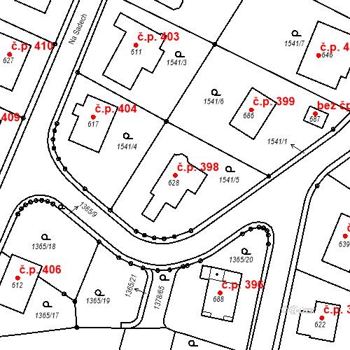 Katastrální mapa Stavební objekt Lhenice 398, Lhenice