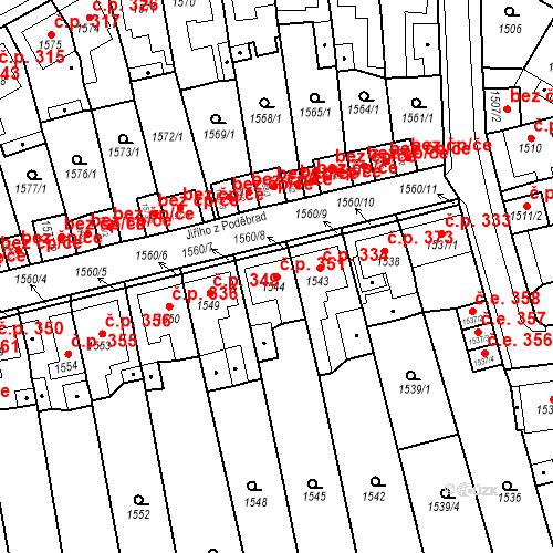 Katastrální mapa Stavební objekt Teplické Předměstí 351, Bílina