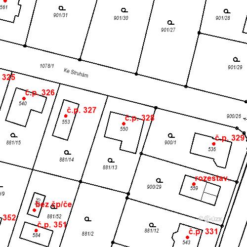 Katastrální mapa Stavební objekt Mirotice 328, Mirotice