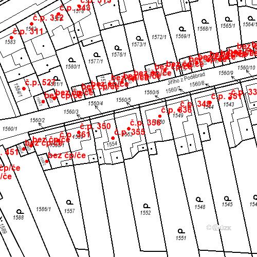 Katastrální mapa Stavební objekt Teplické Předměstí 356, Bílina