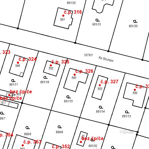 Katastrální mapa Stavební objekt Mirotice 326, Mirotice