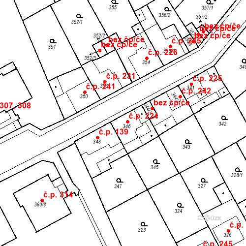 Katastrální mapa Stavební objekt Újezdské Předměstí 224, Bílina