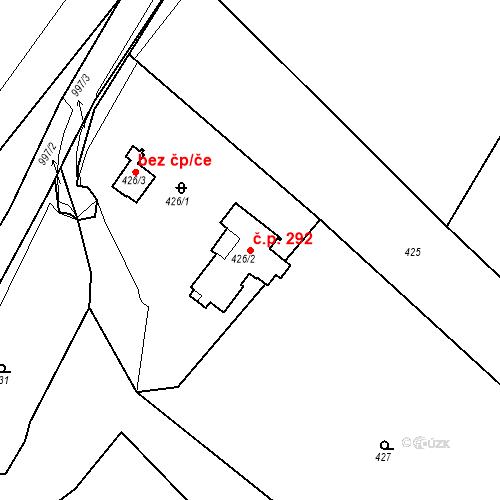 Katastrální mapa Stavební objekt Újezdské Předměstí 292, Bílina
