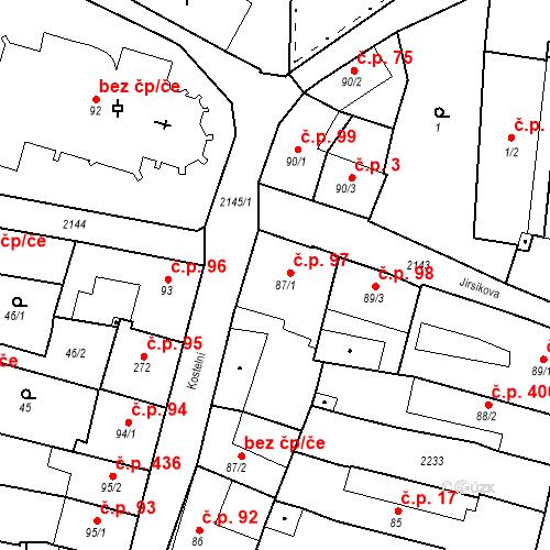 Katastrální mapa Stavební objekt Bavorov 97, Bavorov
