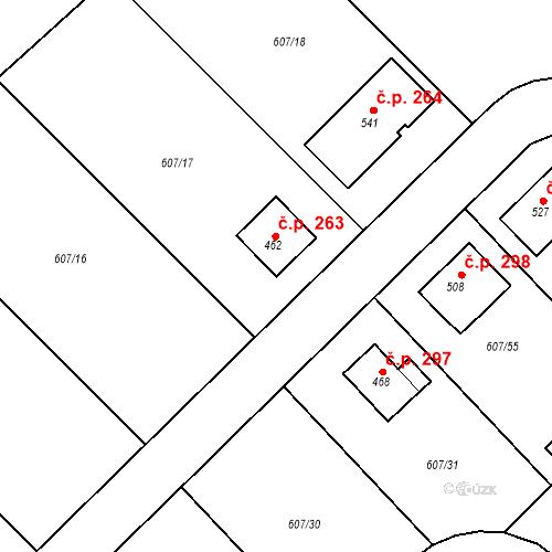 Katastrální mapa Stavební objekt Bohutín 263, Bohutín