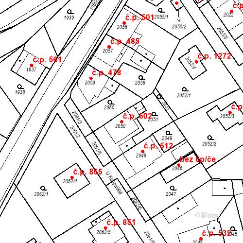 Katastrální mapa Stavební objekt Hořovice 502, Hořovice