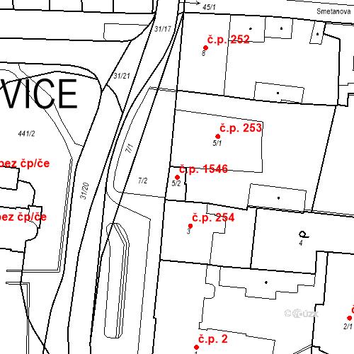 Katastrální mapa Stavební objekt Hořovice 1546, Hořovice