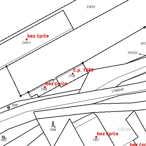 Katastrální mapa Stavební objekt Hořovice 1569, Hořovice
