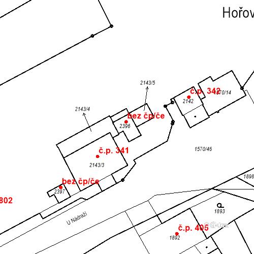 Katastrální mapa Stavební objekt Hořovice 1609, Hořovice