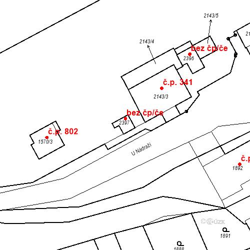 Katastrální mapa Stavební objekt Hořovice 1608, Hořovice