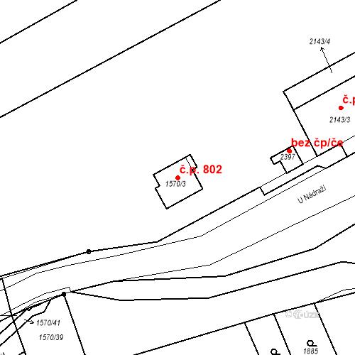 Katastrální mapa Stavební objekt Hořovice 802, Hořovice