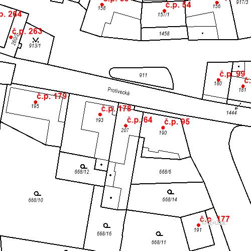 Katastrální mapa Stavební objekt Strunkovice nad Blanicí 64, Strunkovice nad Blanicí