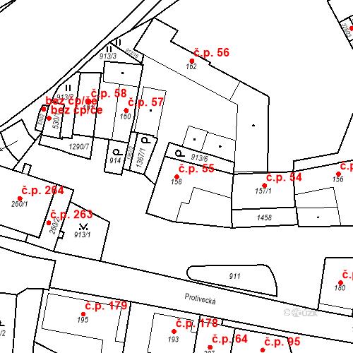 Katastrální mapa Stavební objekt Strunkovice nad Blanicí 55, Strunkovice nad Blanicí