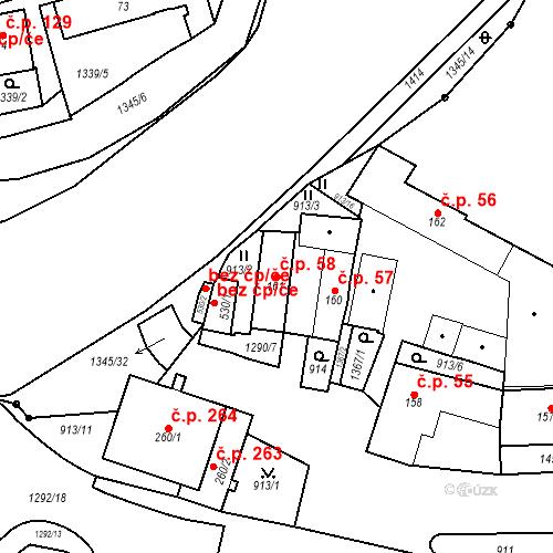 Katastrální mapa Stavební objekt Strunkovice nad Blanicí 58, Strunkovice nad Blanicí