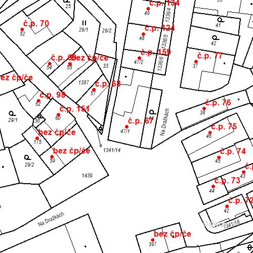 Katastrální mapa Stavební objekt Strunkovice nad Blanicí 67, Strunkovice nad Blanicí
